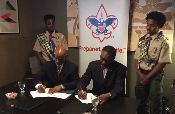 Kappa League, Boy Scouts sign Partnership